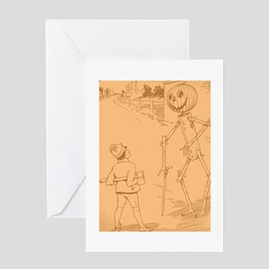 Oz Jack Pumpkinhead and Tip Greeting Card