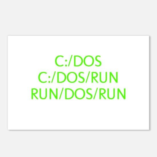 C:/DOS RUN Postcards (Package of 8)