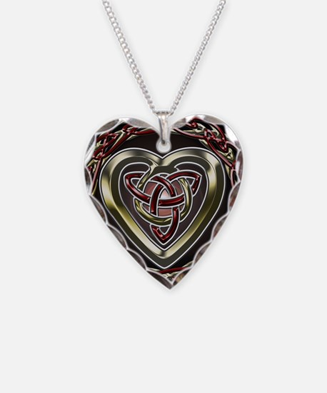 Funny Occult Necklace Heart Charm