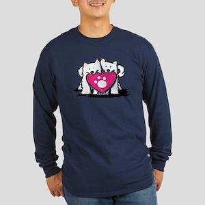 Valentine Duo Long Sleeve Dark T-Shirt