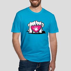 Valentine Duo Men's Fitted T-Shirt (dark)