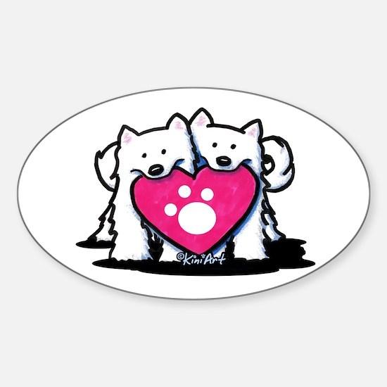 Valentine Duo Sticker (Oval)