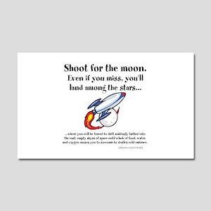 Shoot The Moon Car Magnet 20 x 12