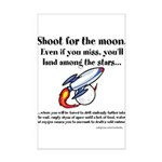 Shoot The Moon Mini Poster Print