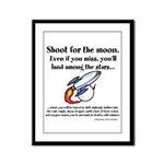 Shoot The Moon Framed Panel Print
