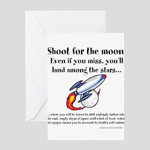 Shoot The Moon Greeting Card