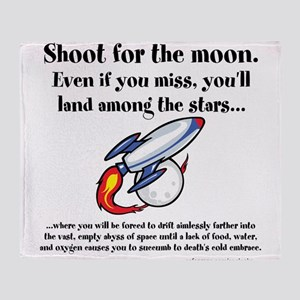 Shoot The Moon Throw Blanket