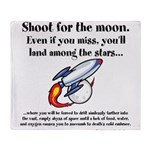 Shoot The Moon Throw Blanket