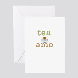 Tea Amo Greeting Card