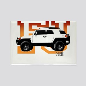 fj cruiser red-orange Magnets