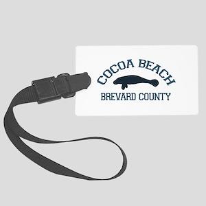 Cocoa Beach - Manatee Design. Large Luggage Tag