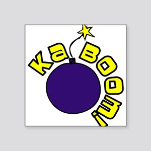 "Kaboom Square Sticker 3"" x 3"""
