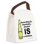 Alcohol Solution Canvas Lunch Bag