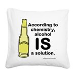 Alcohol Solution Square Canvas Pillow