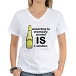 Alcohol Solution Women's V-Neck T-Shirt