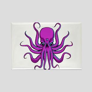 Psychedlic Octopus Rectangle Magnet