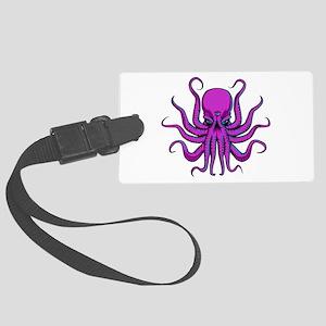 Psychedlic Octopus Large Luggage Tag