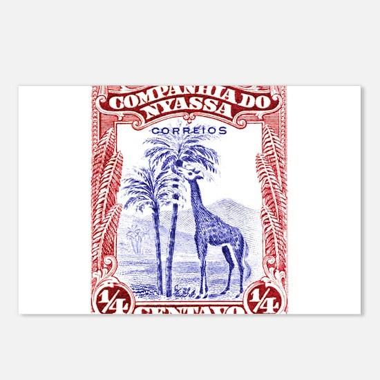 Antique 1921 Nyassa Company Giraffe Postage Stamp