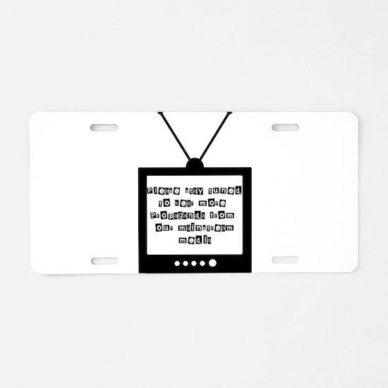 Propagnda Aluminum License Plate
