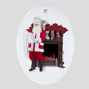 """Check again, Santa..."" Christmas Ornament"