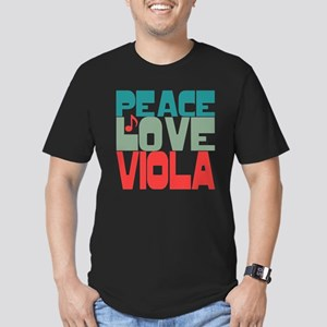 Peace Love Viola Men's Fitted T-Shirt (dark)