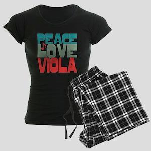 Peace Love Viola Women's Dark Pajamas
