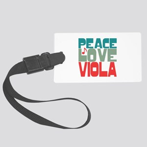 Peace Love Viola Large Luggage Tag