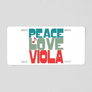 Peace Love Viola Aluminum License Plate