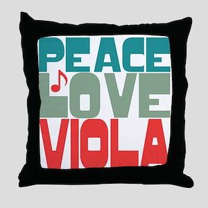 Peace Love Viola Throw Pillow