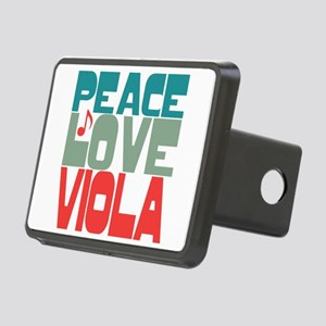 Peace Love Viola Rectangular Hitch Cover