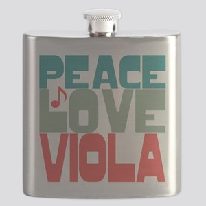 Peace Love Viola Flask