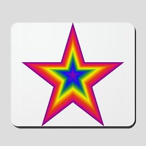 Rainbow Star Mousepad