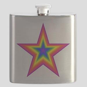 Rainbow Star Flask