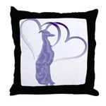 Whippet Hearts Throw Pillow