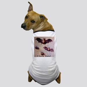 I Love Bats First Edition Dog T-Shirt