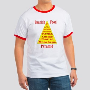 Spanish Food Pyramid Ringer T T-Shirt