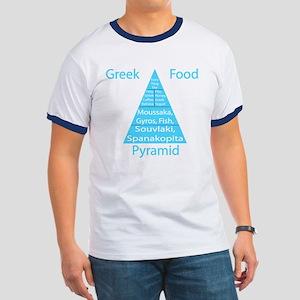 Greek Food Pyramid Ringer T T-Shirt