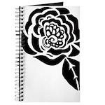 Black Digital Flower Design Journal