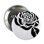 Black Digital Flower Design 2.25