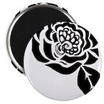 Black Digital Flower Design Magnet