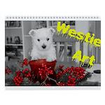 Westie Art Wall Calendar