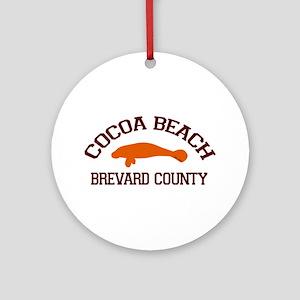 Cocoa Beach - Manatee Design. Ornament (Round)
