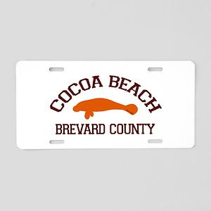 Cocoa Beach - Manatee Design. Aluminum License Pla