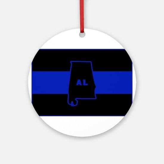 Thin Blue Line - Alabama Ornament (Round)