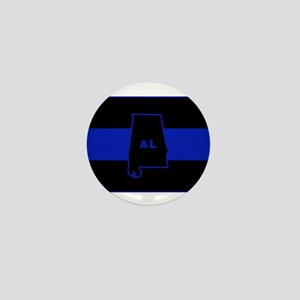 Thin Blue Line - Alabama Mini Button