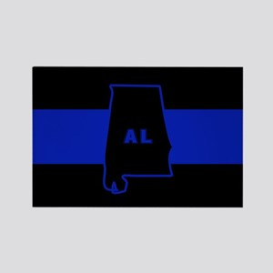 Thin Blue Line - Alabama Rectangle Magnet