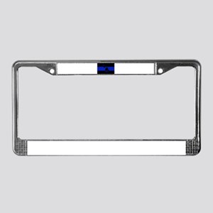 Michigan Thin Blue Line License Plate Frame