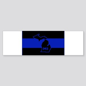 Michigan Thin Blue Line Sticker (Bumper)
