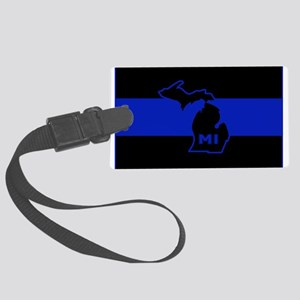 Michigan Thin Blue Line Large Luggage Tag