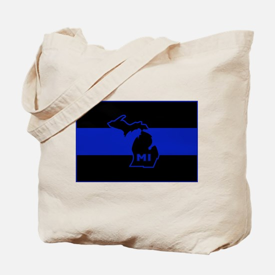 Michigan Thin Blue Line Tote Bag